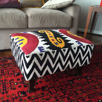 Tapestry Foot Stool / Ottoman