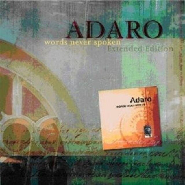 "ADARO ""WORDS NEVER SPOKEN (SPECIAL EXTENDED EDITION.)"" CD NEUWARE"