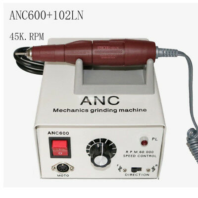 Anc600 45000rpm Dental Lab Micro Motor With Strong 102ln Handpiece Drill Polish