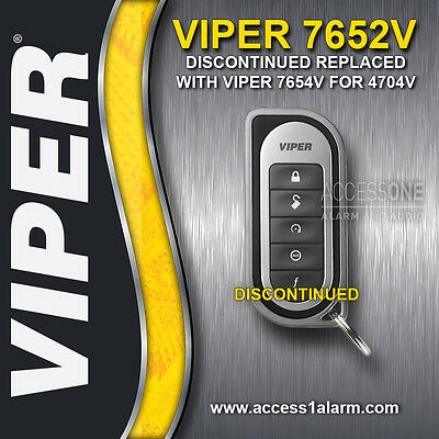 Viper 7652V 1-Way 5-Button Replacement Remote Control Transmitter 7654V 4704V