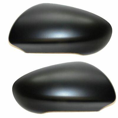 Juke 2010-2014 Door Wing Mirror Cover Black Textured Pair Left /& Right