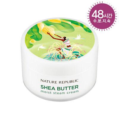 Korea Cosmetic [Nature Republic]Shea Butter Steam Cream MOIST 3.38oz Free TR.NO.