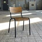 SUPER DEAL Eetkamerstoel School Chair Vintage hout