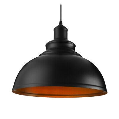 Industrail Warehouse Pendant Light Black Bowl Shade Hanging Ceiling Fixture 14