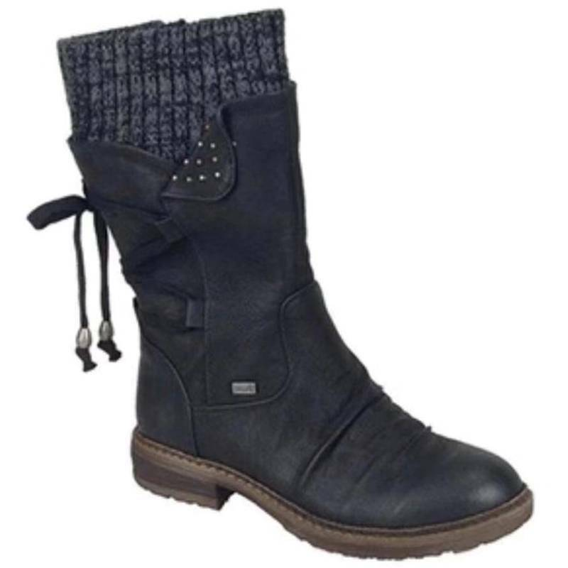 Womens Ankle Boots Lace Up Warm Casual Shoes