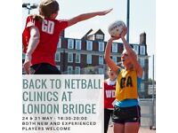 Back to Netball Sessions - London Bridge (Marlborough Gardens)