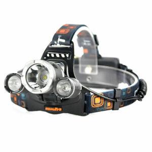 BORUiT 17000 Lumen Headlamp XM-L 3x T6 LED Headlight 18650 Light Charger Battery