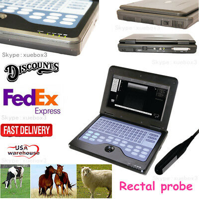 Veterinary Portable Ultrasound Scanner Machine For Animals7.5m Rectal Probe Cow