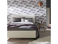 John Lewis Milan Bed Frame, Kingsize, Ivory- Ex-Display - RRP £225