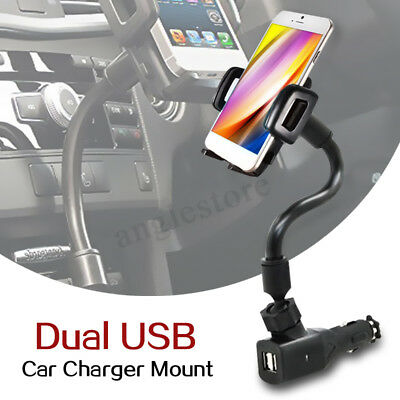 5V 2A Dual 2 USB Car Cigarette Lighter Charger Mount Holder for Mobile Phone (Odyssey Mobile Gps)