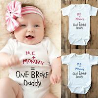 Cotone Neonati Bambini Bambine Boysbodysuit Tuta Monopezzo Vestiti Outfit -  - ebay.it