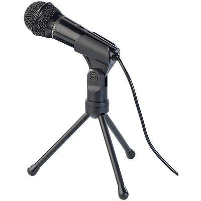 auvisio Mikrofon mit Ständer für PC und Notebook, 3,5-mm-Klinkenstecker