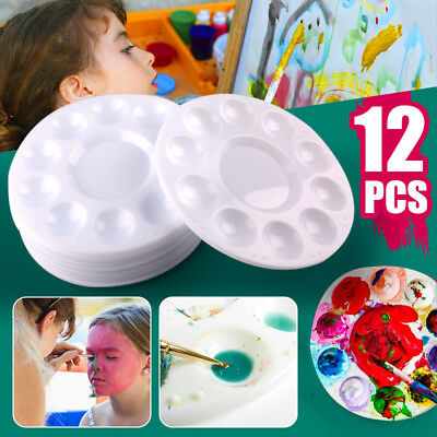 12 Pcs Paint Tray Palettes Plastic for DIY Craft Professional Art Painting White - Paint Tray