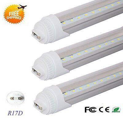 10Pcs 8ft Foot 40w R17D Double-End Power T8 T12 LED Tube Light 6500K CLEAR LENS