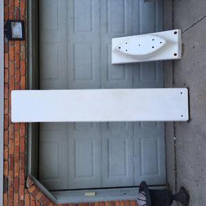 Pool diving board and base(8 ft) needs repair