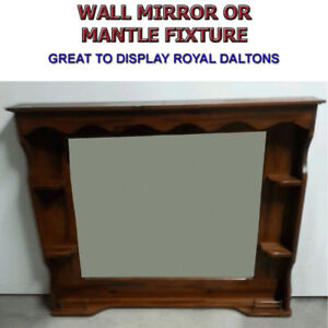 WALL/MANTLE MIRROR WITH SHELVES - GREAT CONDITION