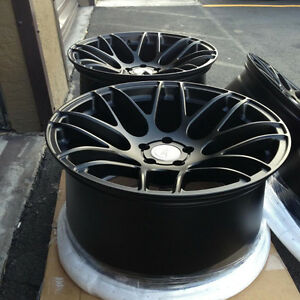 Black mate concave forged wheels