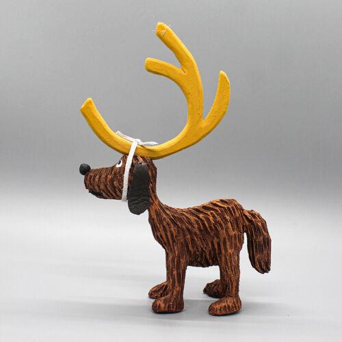 """NAVAJO FOLK ART-HOW THE GRINCH STOLE CHRISTMAS DOG """"MAXX""""-VIRGIL WOOD"""