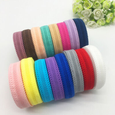 5Yds 5 8  16Mm  Bilateral Lace Grid Fold Over Elastic Spandex Lace Band U Pick