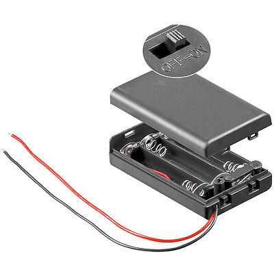 Batteriehalter 3 x Micro AAA + Schalter Ein/Aus - Gehäuse geschlossen 4496