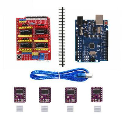 Uno R3 Board For Arduino Compatible Cnc V3 Shield 4x Drv8825 Driver