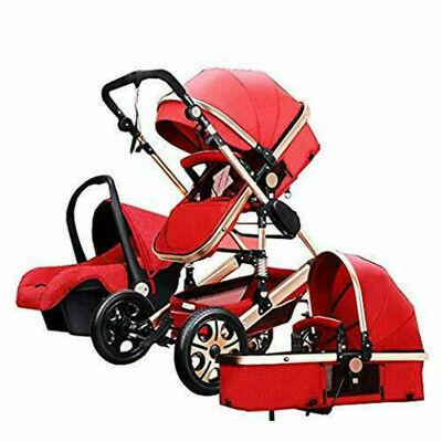 Free Shipping!Luxury Baby Stroller 3 In 1High View Pram Fold Pushchair &Car Seat