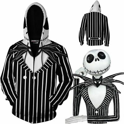 Nightmare Before Christmas Cosplay Costumes (The Nightmare Before Christmas Jack Skellington 3D Cosplay Hoodie Tops)