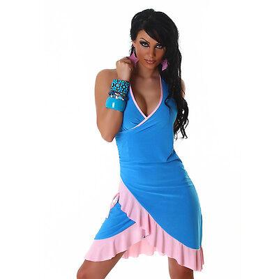 SEXY! NECKHOLDER MINIKLEID MORE LATINA-LOOK SALSA KLEID TANZKLEID - Sexy Salsa Kleid