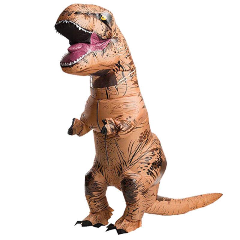 NEU T- REX Kostüm Karneval Kostüm Dinosaurier Kostüm für Erwachsene - Aufblasbar