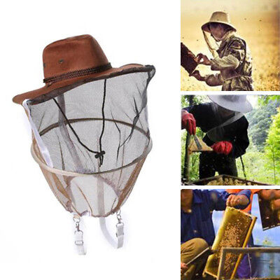 Beekeeping Beekeeper Cowboy Hat Mosquito Bee Insect Mesh Net Face Protector