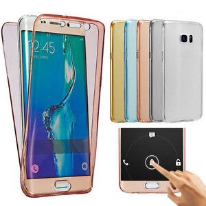 COVER-FRONTE-RETRO-TPU-TRASPARENTE-PROTEZIONE-360-Per-Samsung-Galaxy-S7-EDGE