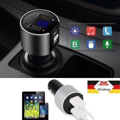Bluetooth FM Transmitter Auto MP3 Player Dual USB Stick AUX SD Freisprechanlage