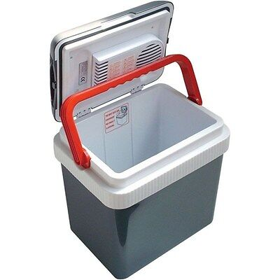Electric Portable 12 Volt Beverage Cooler  32 Can Thermoelectric Car Boat Fridge