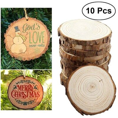 10pcs Rustic Natural Round Wood Pine Tree Slice Disc Wedding Centerpiece Decor - Round Wood Centerpiece