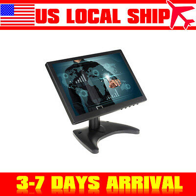 10  Ips Touch Screen Video Monitor Display Hdmi Vga Av Bnc For Banking Pc Cctv