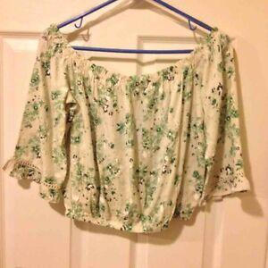 womens cotton crop top' blouse