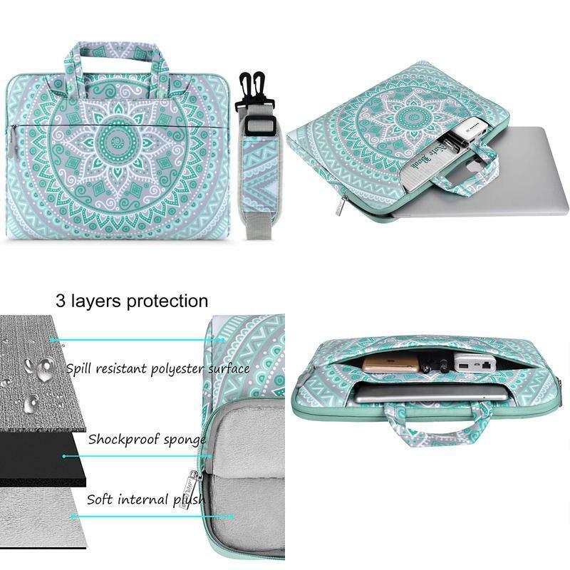Mosiso Laptop Schultertasche Kompatibel Mit 13-13,3 Zoll Macbook Pro, Macbook Ai