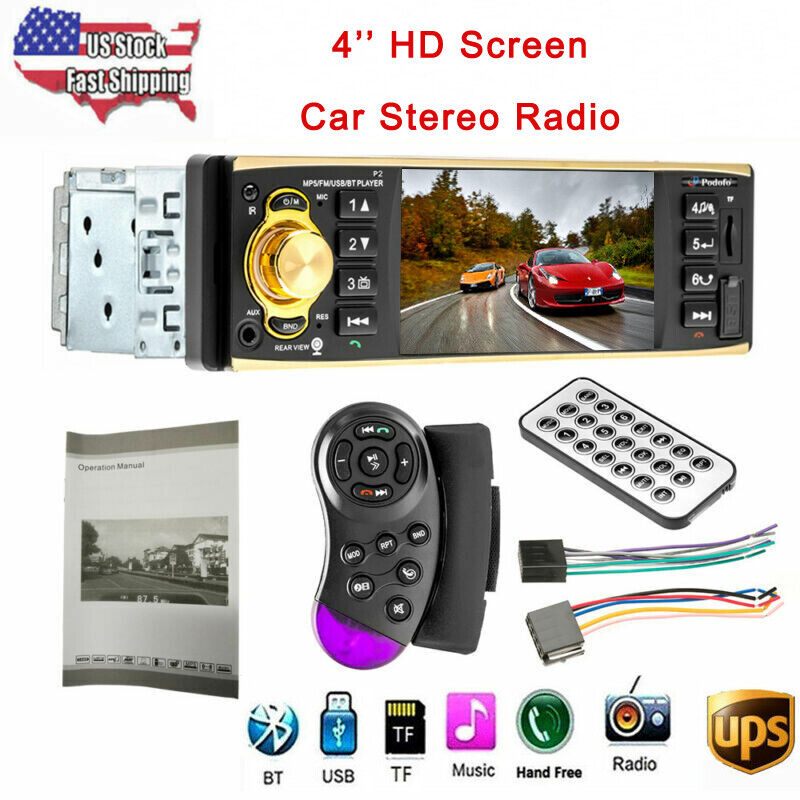 "Car Stereo Radio 4.1"" HD 1Din MP3 MP5  Player FM AM Bluetoot"