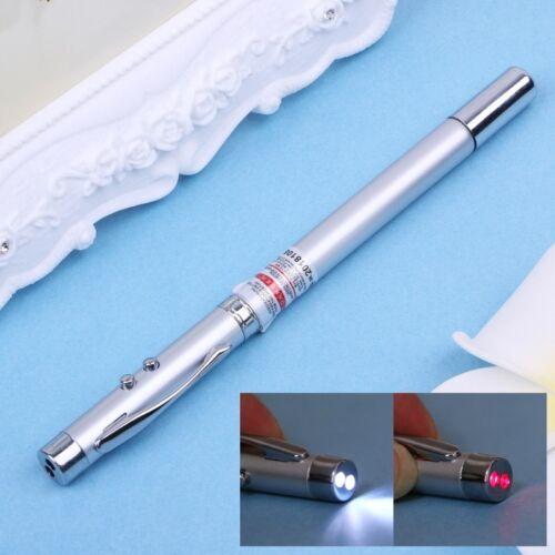 5 in 1 Power Point Telescopic Red Laser Pointer Pen Teaching Tool Ball LED Light
