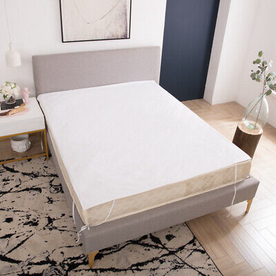 Nordic Solid White Color Waterproof Flat Sheet Mattress Protector Mattress Cover