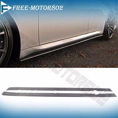 Fit Audi Ford Honda Universal Side Skirts Extension Splitter Bottom Line ABS