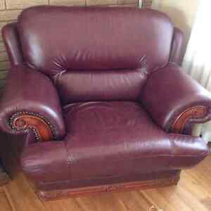 Leather Couch and Chair Set