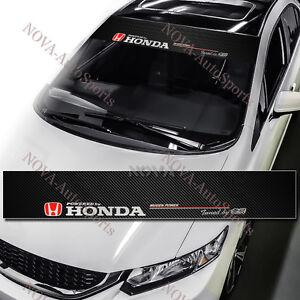 JDM HONDA Mugen Power Drift Racing Windshield Carbon Fiber Banner Decal Sticker
