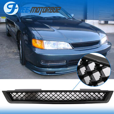 For 94-97 Honda Accord Type R Style Front Hood Grill Grille Black ABS