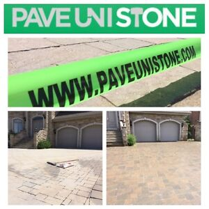 PAVE_UNI STONE - UNISTONE CLEANING , SEALING AND RE-LEVELLING - West Island Greater Montréal image 7