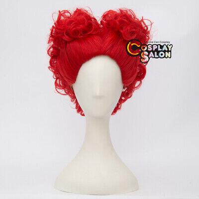 Alice Anime Red Curly Damenhaar Cosplay Wig 35cm - Red Curly Perücken Halloween