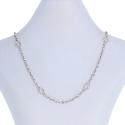 """Judith Ripka Fancy Cable Chain Necklace 17 3/4"""" - Sterling Lobster Claw Clasp"""