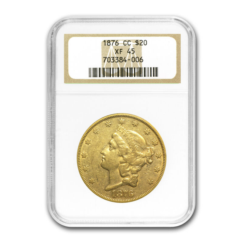 1876-CC $20 Liberty Gold Double Eagle XF-45 NGC - SKU#68909