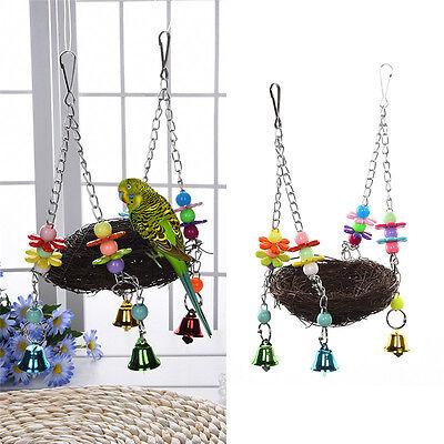 Pet Bird Nest Hammock Swing Hanging Chew Toys Parrot Parakeet Budgie Cockatiel
