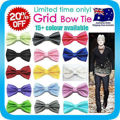 Bow Tie Korean Silk Polyester Wedding Tuxedo Bowtie Groom Party Double Bows Grid Party Bow Tie